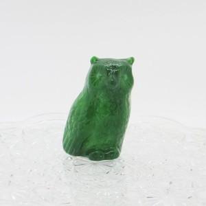 ボヘミアガラスの動物::: フクロウ