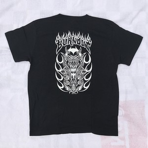 BURNOUT MAKOTO DESIGN T-SHIRT/BLACK