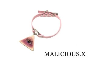 eye ring choker(pink)/ rainbow(skin)