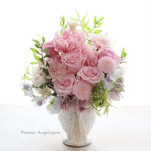 プリザ仏花(大)お手入れ要らずの美しいお供花♪