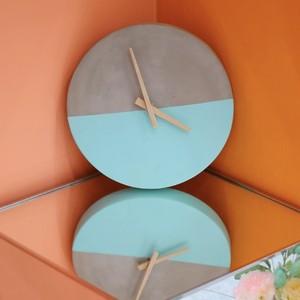 moon light wall clock / ムーンライト ウォールクロック 壁掛け時計 セメント コンクリート 韓国 インテリア 雑貨