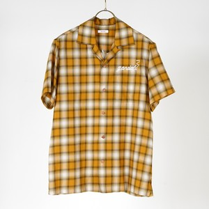 S/S OPEN COLLAR SHIRTS (YELLOW) / GAVIAL