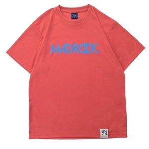 【新作/オンラインストア限定】マッドロックロゴ Tシャツ / ドライタイプ / ヘザーレッド & サックス