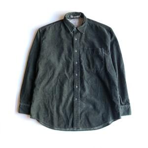 USED HAGGER corduroy herring born shirts - green