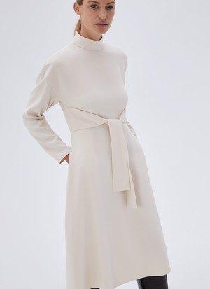 LONG SLEEVE DRESS WITH CENTRAL STRIP