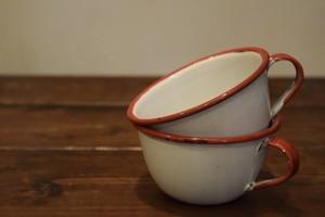 USED 琺瑯カップ Vintage Cup 2set G0151