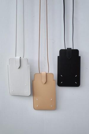 Maison Margiela /  neck Phone pouch  (Black / Nude / greige)