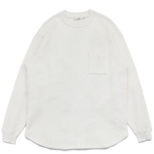 【YASHIKI】Waffle Crew neck Knit -WHITE-