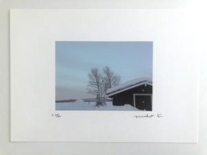 A4サイズフォトポスター「雪の家」