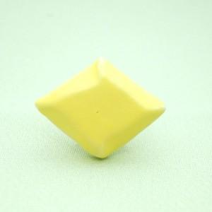 <通年>シンプル菱形帯留め 黄色