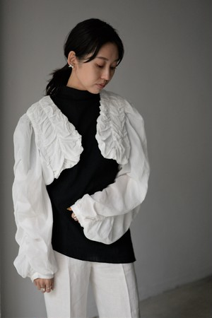 BELPER / cotton boil bolero (white)
