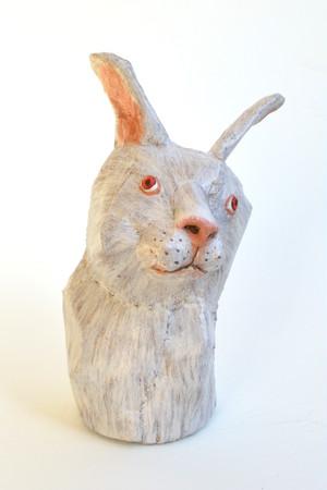 ダンボール彫刻 ちいさいシリーズ ウサギ C802