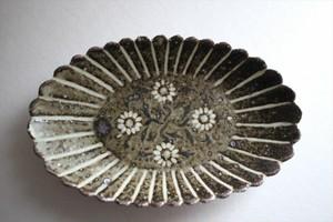 中西申幸|象嵌菊形小皿