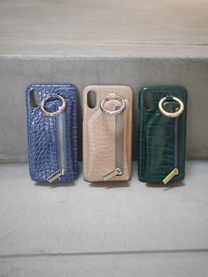 ajew / croco cadenas zipphone case (X / Xs)
