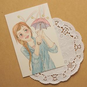 流れ星*星と月のポストカード