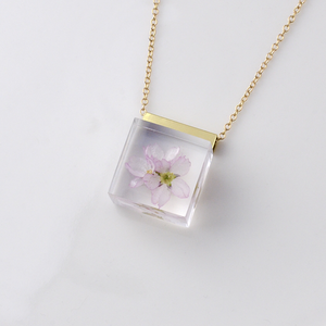 桜のネックレス 14kgf(啓翁桜, さくら, レジン, 送料無料)