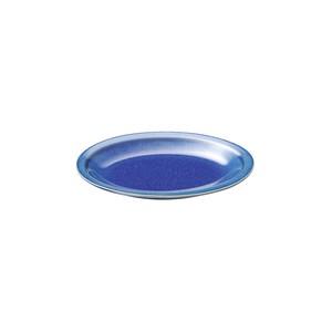 「群青 Gunjo」オーバル プレート 皿 約21×15cm ネイビー 美濃焼 288010