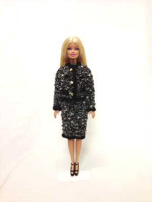 バービー人形用 シャネル風スーツ