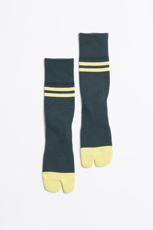 '90s Line Socks(Forest Green × Lime)