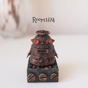 【液体の街】ポストペンギンロボ(モニター用フィギュア)古い金属色