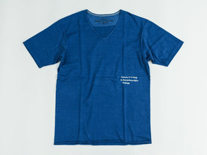 HEAVEY DUTY V-NECK T-S (BLUE) / GERUGA