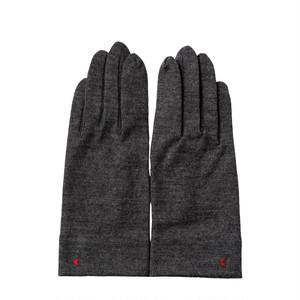 【手袋】123 杢グレー/ウール100%/手が細くキレイに見える/スマホタッチ仕様(オプション)