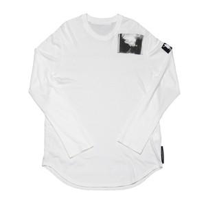 687CPM3-WHITE / パッチプリントシャツ