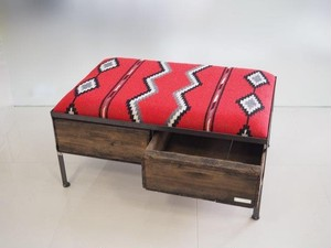 品番UMRW-105  2drawer ottoman[wide/ Tribal rug]