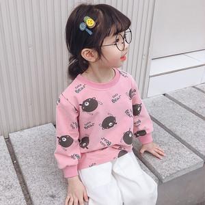 【トップス】カートゥーンコットン女の子清新キュート長袖Tシャツ25724142