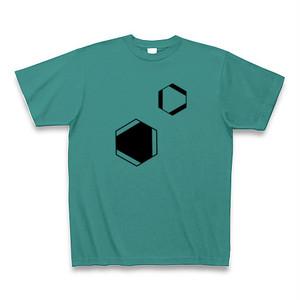 理系Tシャツ【ベンゼン環/2つ/ピーコックグリーン】-(Scien-T'st)Benzen/two/Peacok Green
