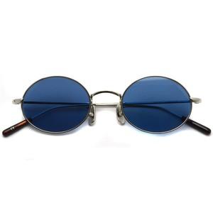 A.D.S.R. / WOLFF02[b] ウォルフ / Silver - Blue lenses シルバー-ブルーレンズ オーバルサングラス