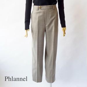 Phlannel/フランネル・Wool Flannel Straight Slacks