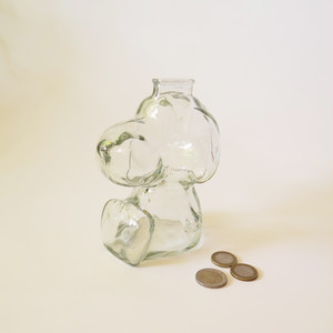 SNOOPY GLASS PENNY BANK・スヌーピー貯金箱 U.S.A