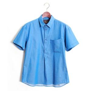 Peruvian pima Pullover Shirt -Blue