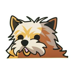 ヨークシャテリア(大) 犬ステッカー