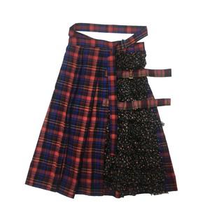 フリル巻きスカート RED×BLUE