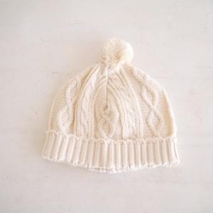 ベビー帽子 オーガニックコットン(ナチュラル)