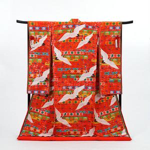 【唐織】かつら帯に鶴