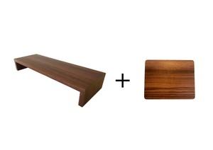 モニター台+木目のマウスパッド Set