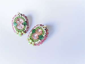 ヴィンテージビジューイヤリング vintage earrings bijou <ER1-0420>