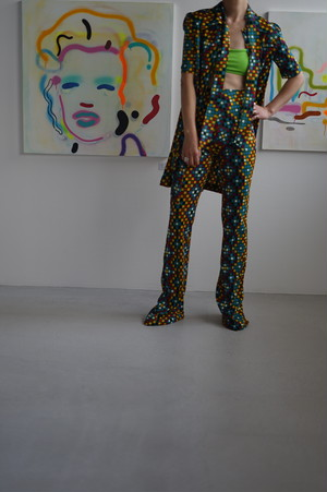 VINTAGE - Colorful Pattern Jersey Set Up