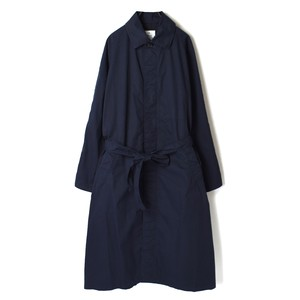 HTS/エイチティーエス/COTTON TWILL BALMACAAN COAT WITH BELT【NHT2011】