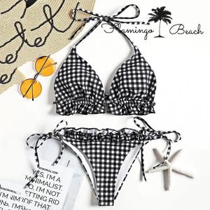 【FlamingoBeach】gingham check bikini