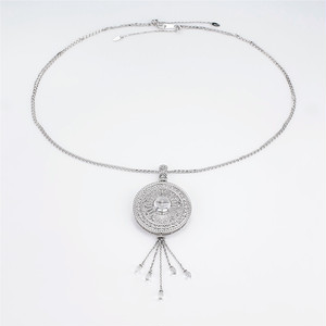 K18WG 水晶 ネックレス/ブローチ 2WAY 水晶11mm