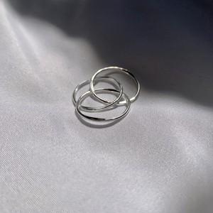 Silver925 Thin Circle ring(細身三連リング)