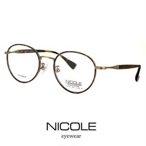 ニコル メガネ NICOLE ns13272-2 チタン 軽量 ボストン ラウンド 丸メガネ 丸眼鏡