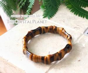 パワーストーンバングル タイガーアイ  天然石 ブレスレット 引き寄せ エネルギー