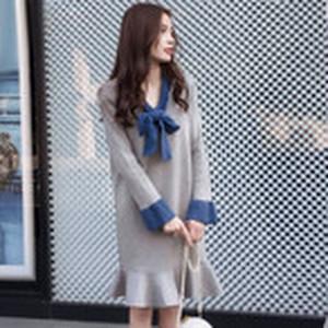【dress】売れ筋ランキングNO.1 大きいサイズニットワンピース