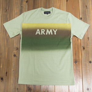 【SOLD OUT】COOCHUCAMP : Happy Square gradation T-shirt / Khaki