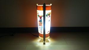 切り絵デザイン(鹿) 木と深山和紙の 青森ヒバ木製 インテリアランプ   No.   039